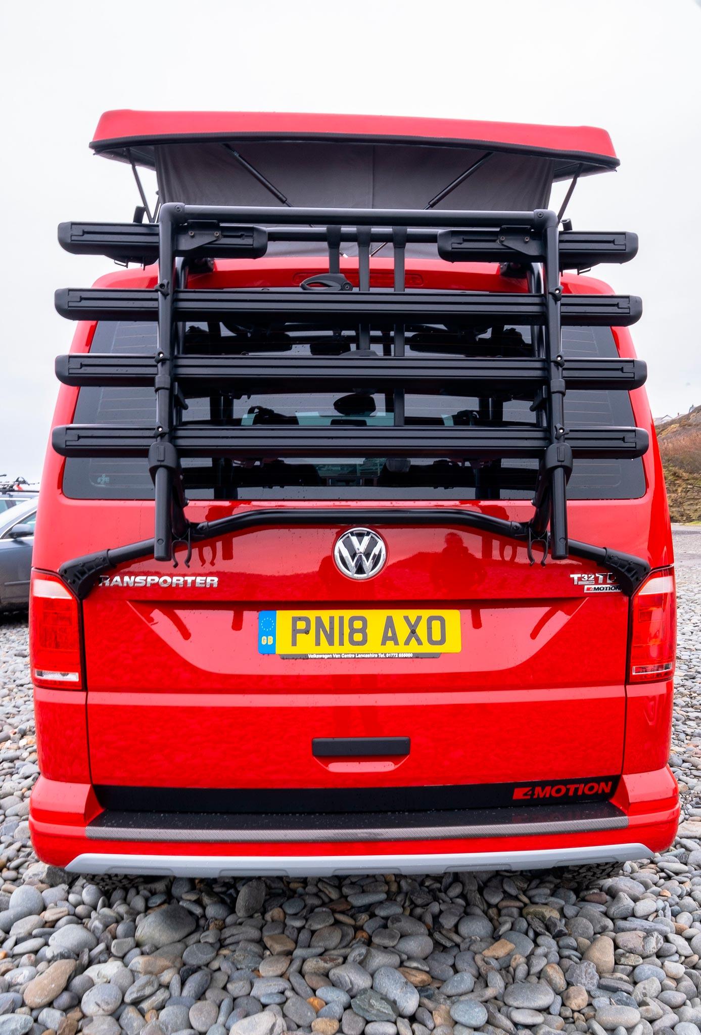 Genuine VW Bike Rack – Black T6 TAILGATE