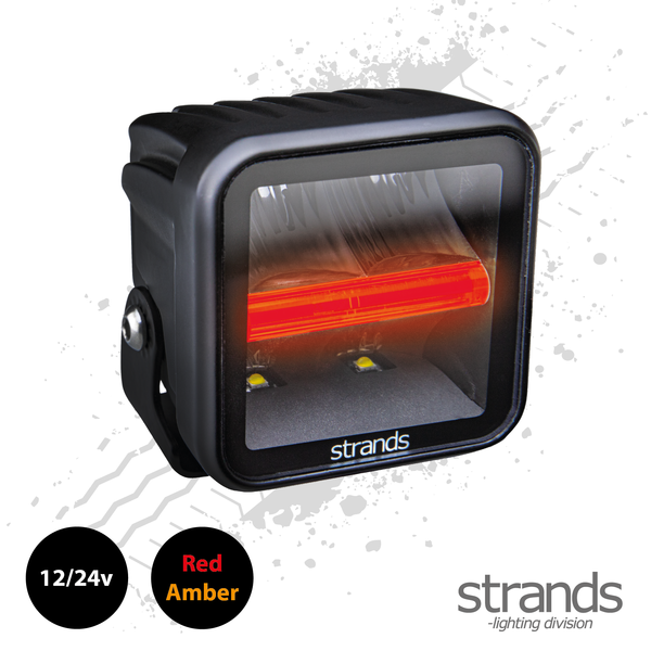 Strands SIBERIA Red Panda Qube Worklight (LED) 12/24v, Amber / Red Side Light